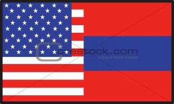 America  Armenia Flag