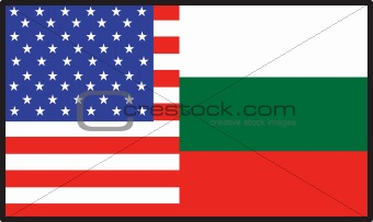 America  Bulgaria Flag