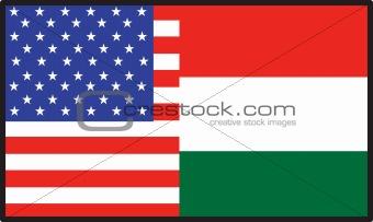 America  Hungary Flag