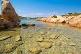 Blue sea in Sardinia