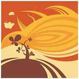 desert flower vector background