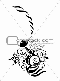 abstract flower motive vector design