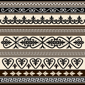 Collections of vector antique borders for design