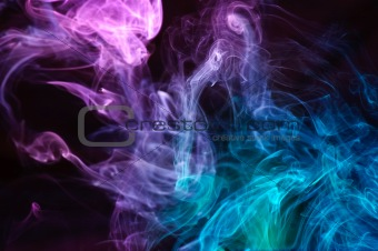 abstract multicolor smoke .