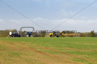 autumn crop spraying