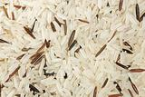 background of brown rice (long grain)