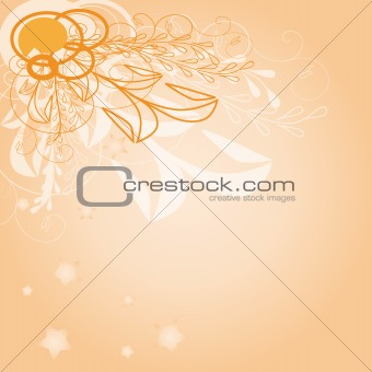 Background vector illustration-orange logo