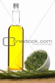 bath salt and oil