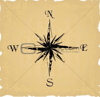black grunge compass