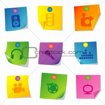 Vector icons Set five