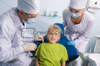 Child and dentists