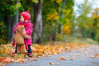 Toddler girl outdoors