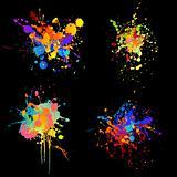 rainbow inkblots