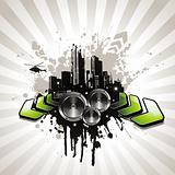 grungy urban music illustration