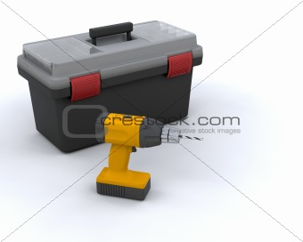 Tool box and power drill