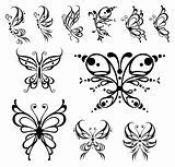 Butterfly tattoo.