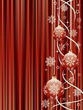 Christmas background with a holiday baubles.