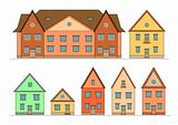 Houses set.