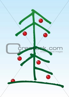 christmastree with balls
