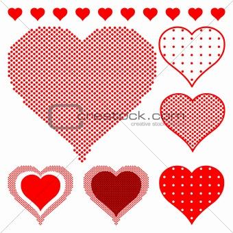 Polka dot hearts