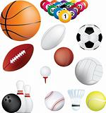 Sports balls set