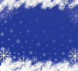Snowflakes background blue