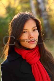 Beautiful woman portrait outdoors