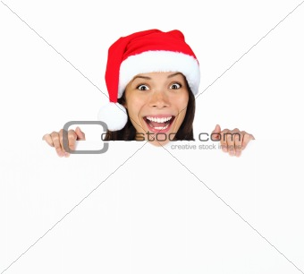 Christmas billbord woman