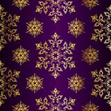 Purple-and-Gold seamless Christmas background