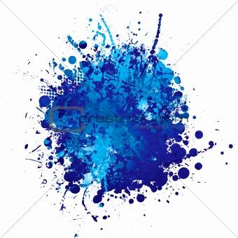 blue ink splat