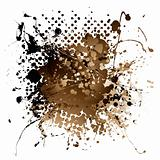 brown ink splat