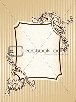 Elegant vintage sepia frame