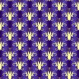 Violet seamless floral pattern (vector)
