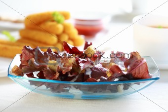 Small salad with croutons