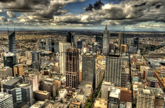 Melbourne cityscape in HDR