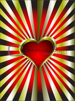 A gold hearts vector valentines day background