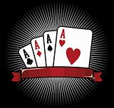 Four Aces. Poker icon