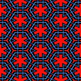 red, blue and black nordic pattern