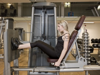 Girl exercing her legs