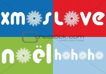 Christmas cards, vector