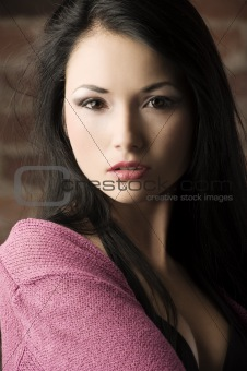 close up asian girl
