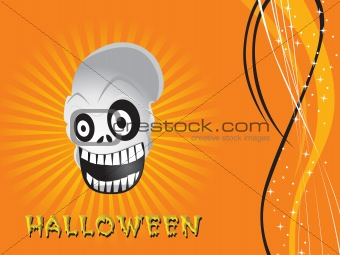 background with isolated  skull