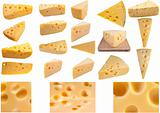 Large page of cheese collection