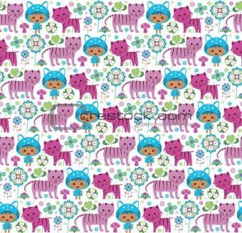 Abstract Floral Pattern SEAMLESS