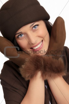 Beautiful woman with winter fashion