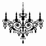 Retro chandelier silhouette