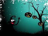 grungy halloween background, illustration