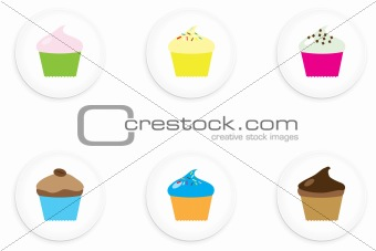 Cup Cake Buttons
