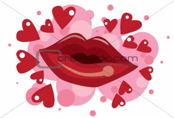 Kissing With Lipstick