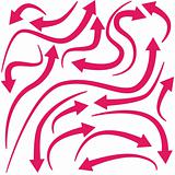 Curving Red Arrows